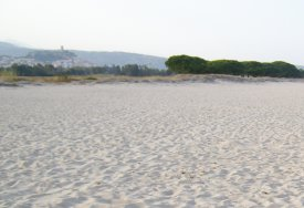 half photo of a view of San Giovanni's beach